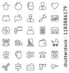thin line vector icon set  ... | Shutterstock .eps vector #1183886179
