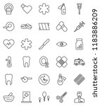 thin line vector icon set  ... | Shutterstock .eps vector #1183886209