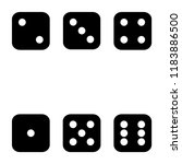 dices icon set is game | Shutterstock .eps vector #1183886500