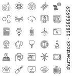 thin line vector icon set  ...   Shutterstock .eps vector #1183886929