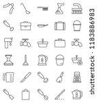 thin line vector icon set  ...   Shutterstock .eps vector #1183886983