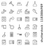 thin line vector icon set  ... | Shutterstock .eps vector #1183886989