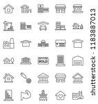thin line vector icon set  ...   Shutterstock .eps vector #1183887013