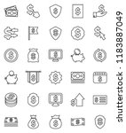 thin line vector icon set  ... | Shutterstock .eps vector #1183887049