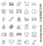 thin line vector icon set  ... | Shutterstock .eps vector #1183887199