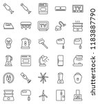 thin line vector icon set  ...   Shutterstock .eps vector #1183887790