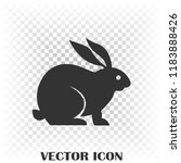 vector image of hare silhouette | Shutterstock .eps vector #1183888426