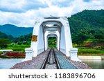 white bridge above mae tha...   Shutterstock . vector #1183896706