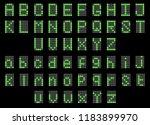 green led digital english... | Shutterstock .eps vector #1183899970