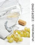 grapes  corkscrew  wine stopper ... | Shutterstock . vector #1183914940