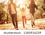 family is a little world... | Shutterstock . vector #1183916239