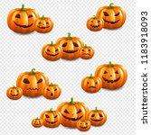 pumpkin set isolated... | Shutterstock .eps vector #1183918093