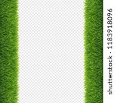 grass borders transparent... | Shutterstock .eps vector #1183918096