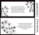 vintage delicate greeting...   Shutterstock . vector #1183918399