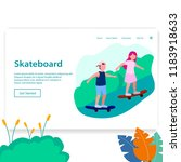 landing page illustration two... | Shutterstock .eps vector #1183918633