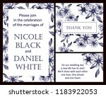 invitation greeting card with... | Shutterstock . vector #1183922053