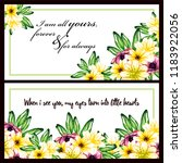 invitation greeting card with... | Shutterstock . vector #1183922056