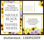 invitation greeting card with... | Shutterstock . vector #1183922059