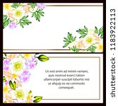 invitation greeting card with... | Shutterstock . vector #1183922113