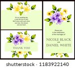invitation greeting card with... | Shutterstock . vector #1183922140