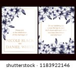invitation greeting card with... | Shutterstock . vector #1183922146