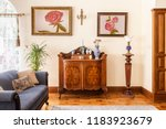 real photo of an antique... | Shutterstock . vector #1183923679