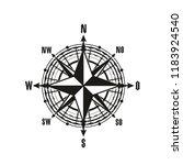 nautical navigation compass or... | Shutterstock .eps vector #1183924540