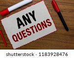 text sign showing any questions.... | Shutterstock . vector #1183928476