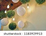 interior. decorative lamps | Shutterstock . vector #1183929913