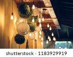 interior. decorative lamps | Shutterstock . vector #1183929919