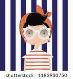 cute girl vector design... | Shutterstock .eps vector #1183930750