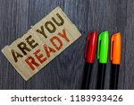 word writing text are you ready.... | Shutterstock . vector #1183933426
