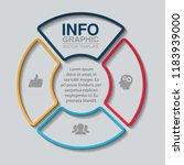vector infographic template for ... | Shutterstock .eps vector #1183939000