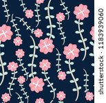 seamless floral pattern with... | Shutterstock .eps vector #1183939060