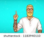 vector pop art blonde haired...   Shutterstock .eps vector #1183940110