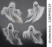 vector set of translucent... | Shutterstock .eps vector #1183940119