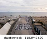 aerial view of logistics... | Shutterstock . vector #1183943620
