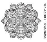 black and white mandala vector... | Shutterstock .eps vector #1183944946