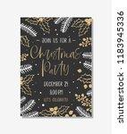 vector christmas party...   Shutterstock .eps vector #1183945336