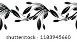 seamless black and white... | Shutterstock .eps vector #1183945660