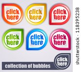 colorful bubbles  click here | Shutterstock .eps vector #118395238