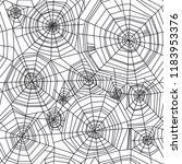 abstract spider web halloween... | Shutterstock .eps vector #1183953376