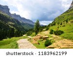 mountain landscape in ordesa y... | Shutterstock . vector #1183962199