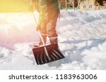 city service cleaning snow... | Shutterstock . vector #1183963006