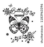 butterfly forever for t shirt | Shutterstock .eps vector #1183963396