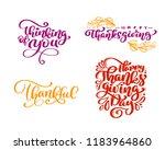 set of calligraphy phrases...   Shutterstock .eps vector #1183964860