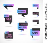 vector stickers  price tag ... | Shutterstock .eps vector #1183969513
