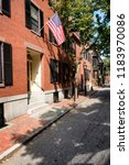 street and row of brownstones... | Shutterstock . vector #1183970086