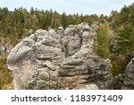 the sandstone rocks called...   Shutterstock . vector #1183971409
