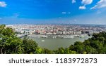 budapest cityscape  view from... | Shutterstock . vector #1183972873